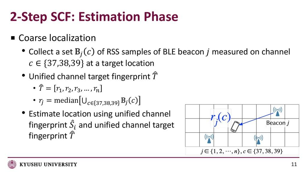 2-Step SCF: Estimation Phase 11 ■ Coarse locali...