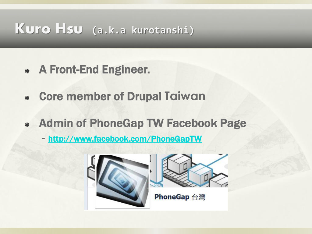  A Front-End Engineer.  Core member of Drupal...