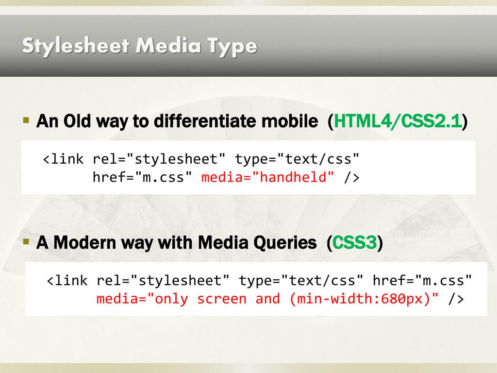 "Stylesheet Media Type <link rel=""stylesheet"" ty..."