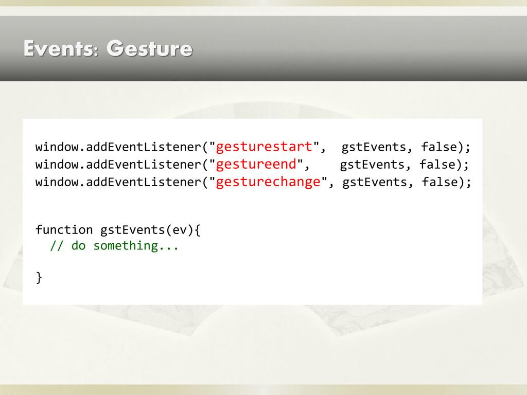 """Events: Gesture window.addEventListener(""""gestur..."""