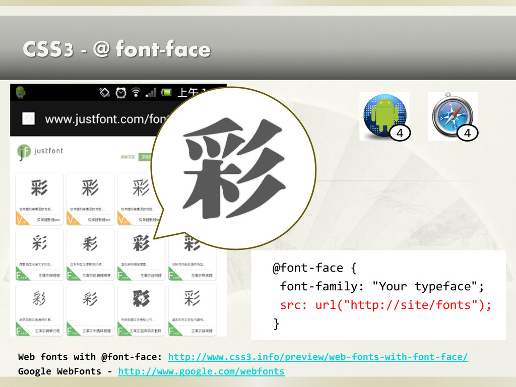 CSS3 - @ font-face Web fonts with @font-face: h...