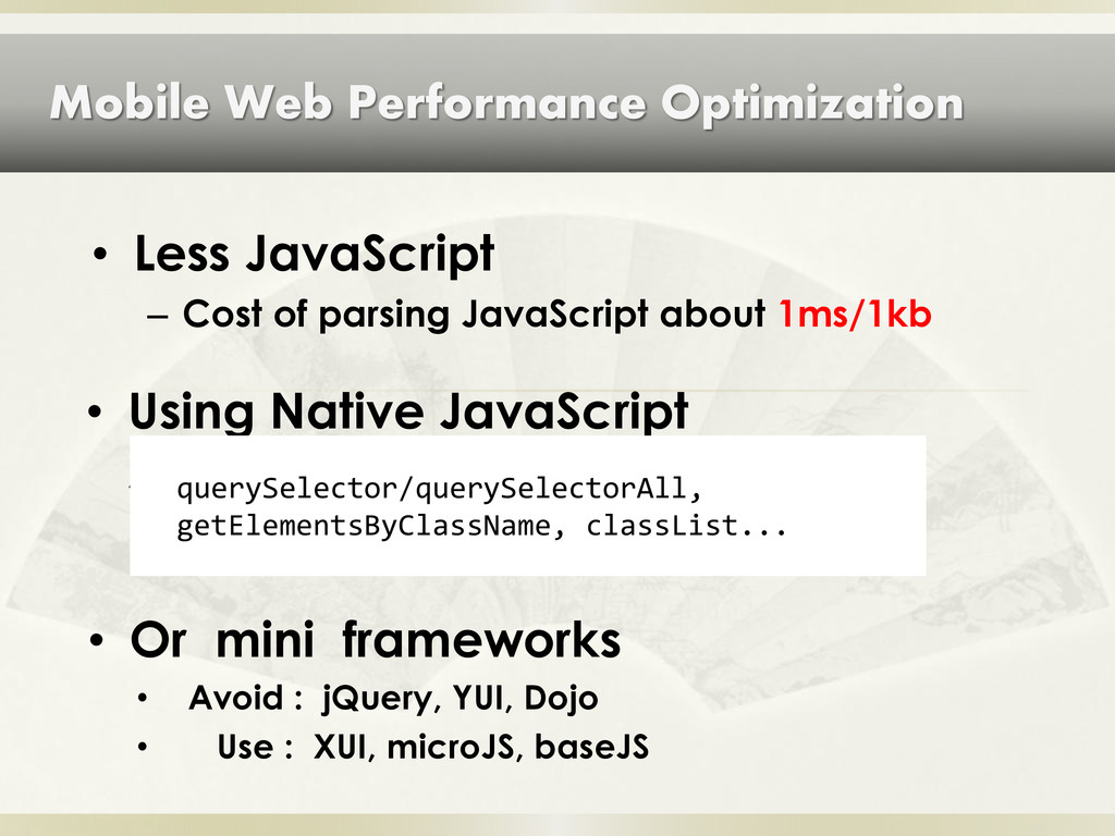 Mobile Web Performance Optimization • Using Nat...
