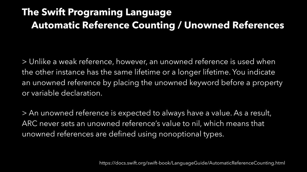 The Swift Programing Language Automatic Referen...