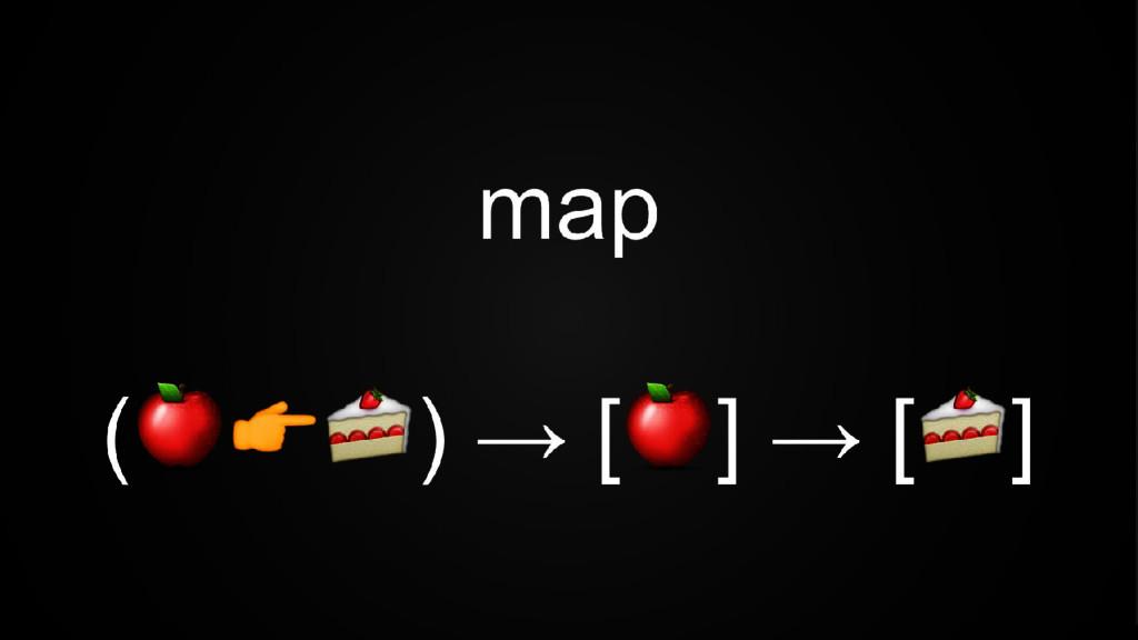 map ( ) → [ ] → [ ]