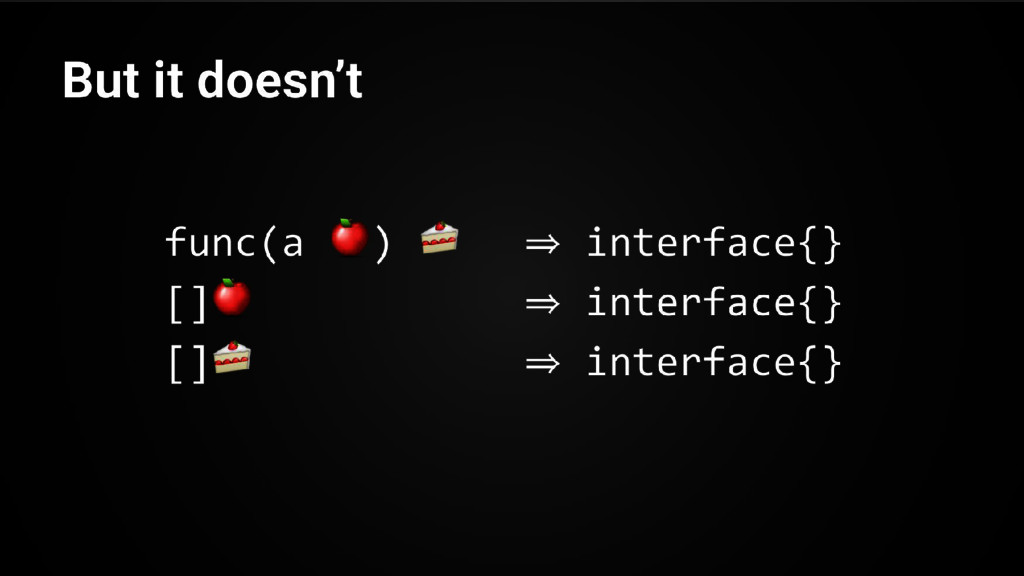 func(a ) ⇒ interface{} [] ⇒ interface{} [] ⇒ in...