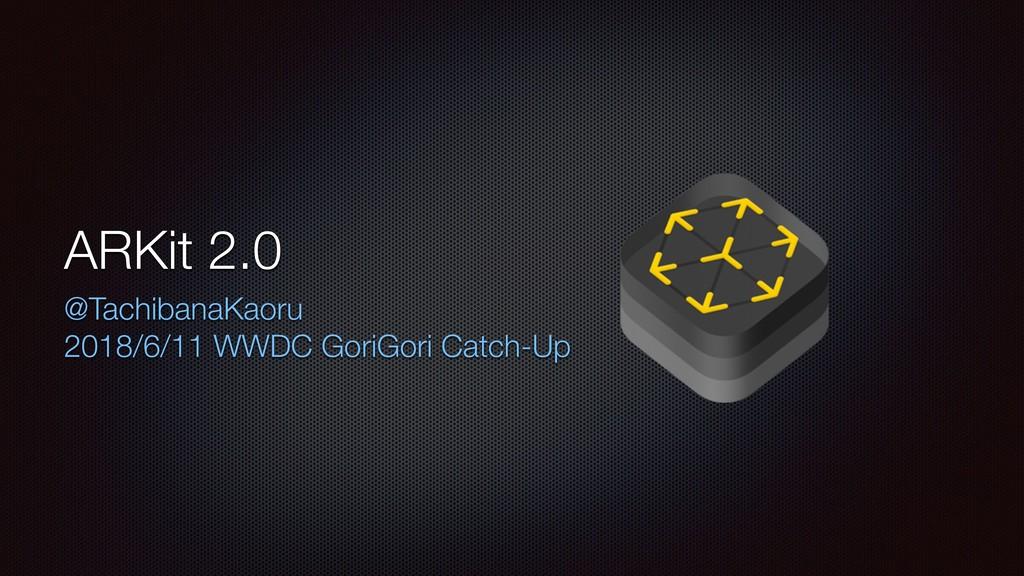 ARKit 2.0 @TachibanaKaoru 2018/6/11 WWDC GoriGo...