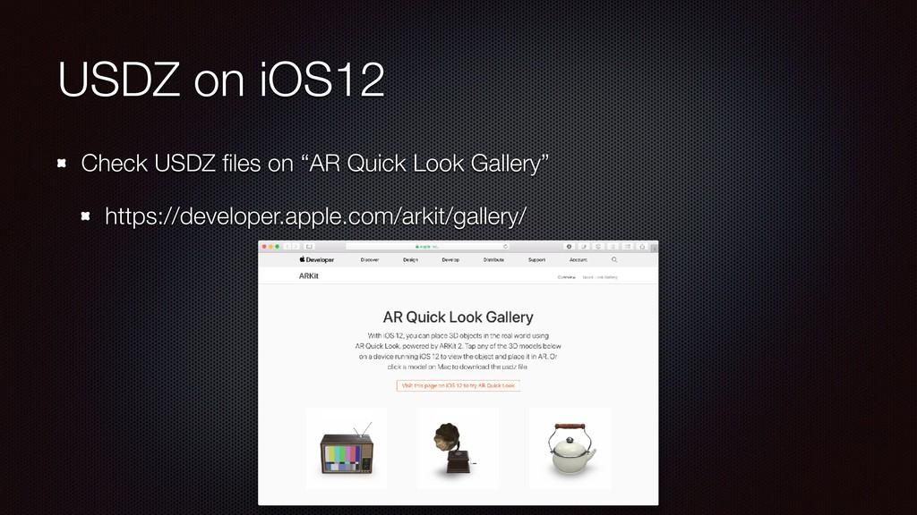 "USDZ on iOS12 Check USDZ files on ""AR Quick Look..."