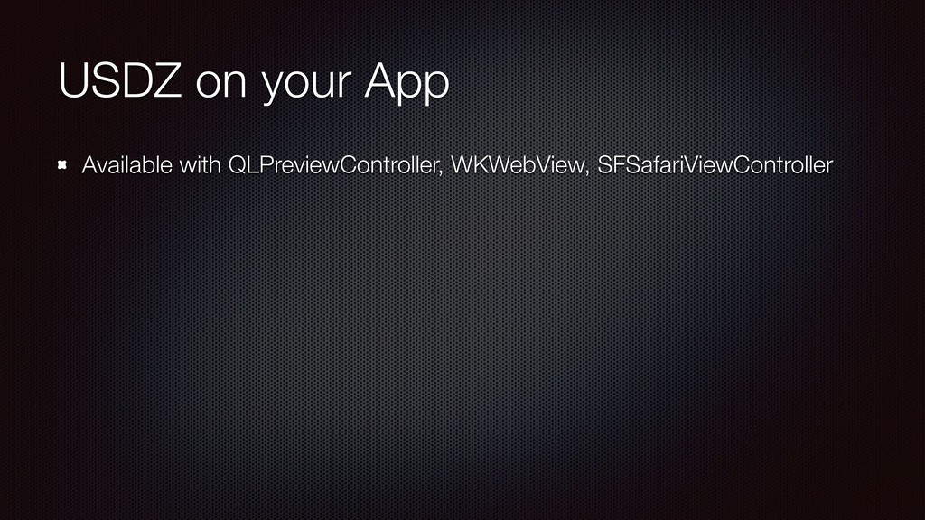 USDZ on your App Available with QLPreviewContro...
