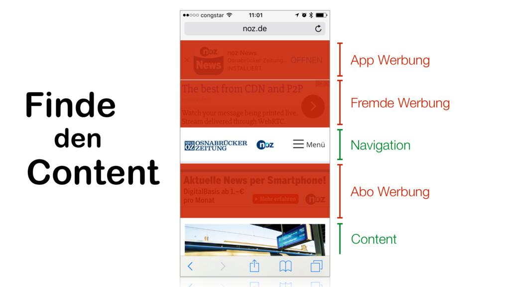 Content Navigation App Werbung Fremde Werbung A...