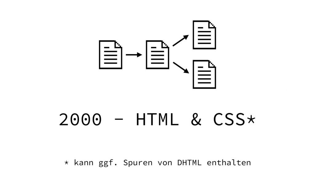 2000 - HTML & CSS* * kann ggf. Spuren von DHTML...