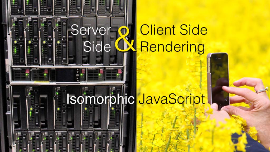 Client Side Rendering Server Side & Isomorphic ...