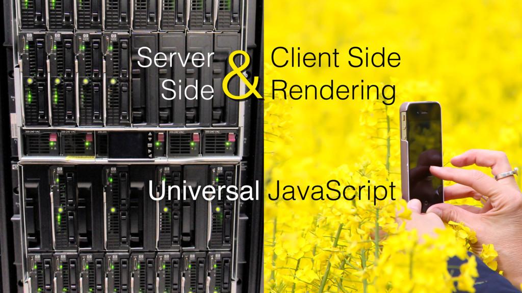 Client Side Rendering Server Side & JavaScript ...