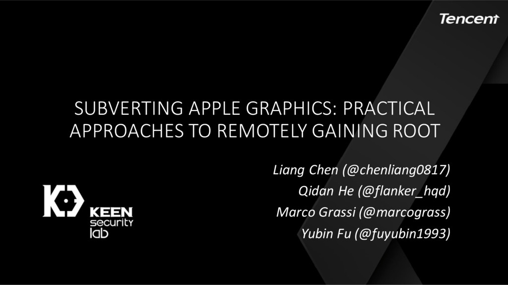 SUBVERTING APPLE GRAPHICS: PRACTICAL APPROACHES...