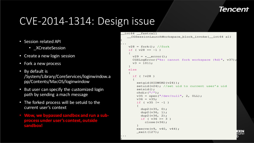CVE-2014-1314: Design issue • Session related A...