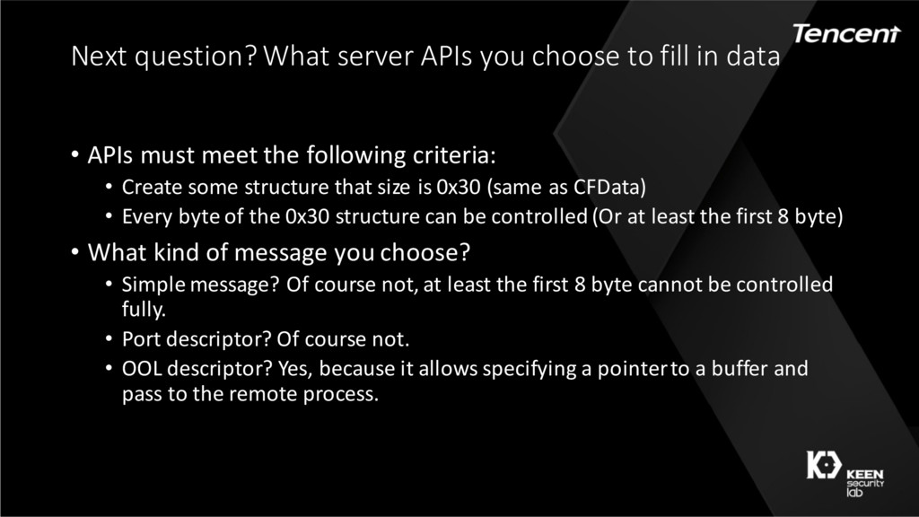 Next question? What server APIs you choose to f...