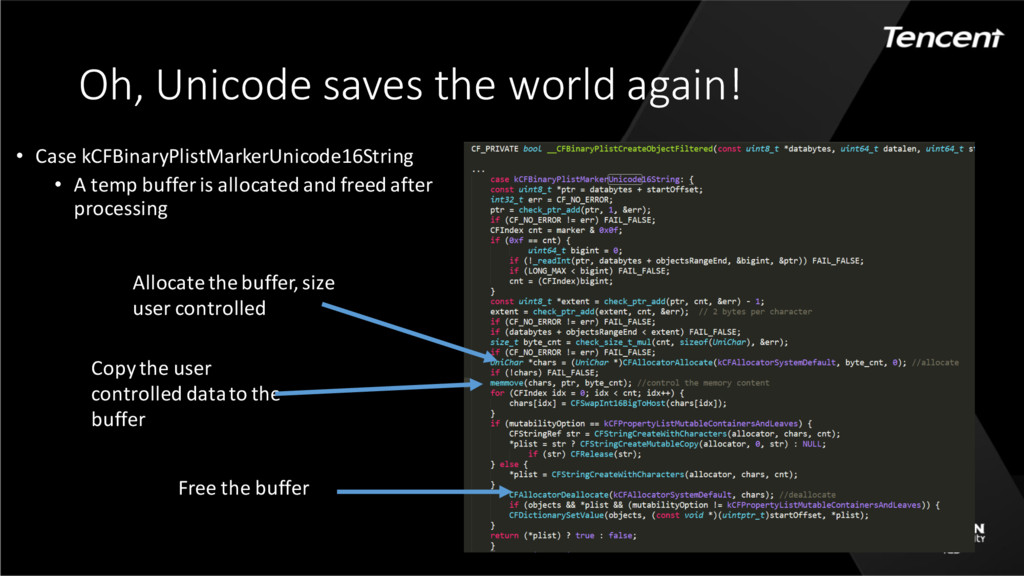 Oh, Unicode saves the world again! • Case kCFBi...