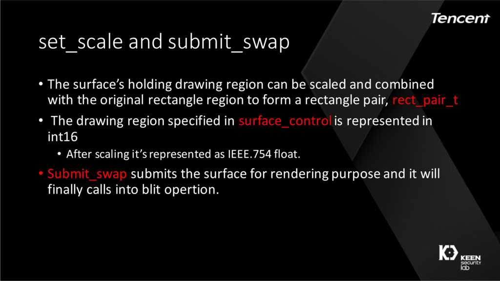 set_scale and submit_swap • The surface's holdi...