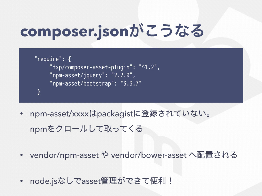 "composer.json͕͜͏ͳΔ ""require"": { ""fxp/composer-a..."