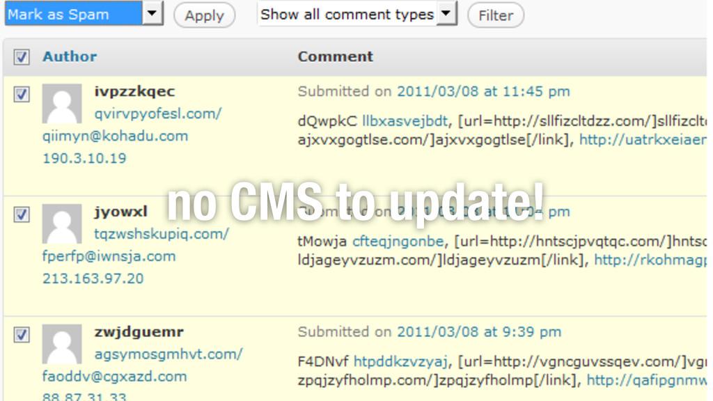 no CMS to update!