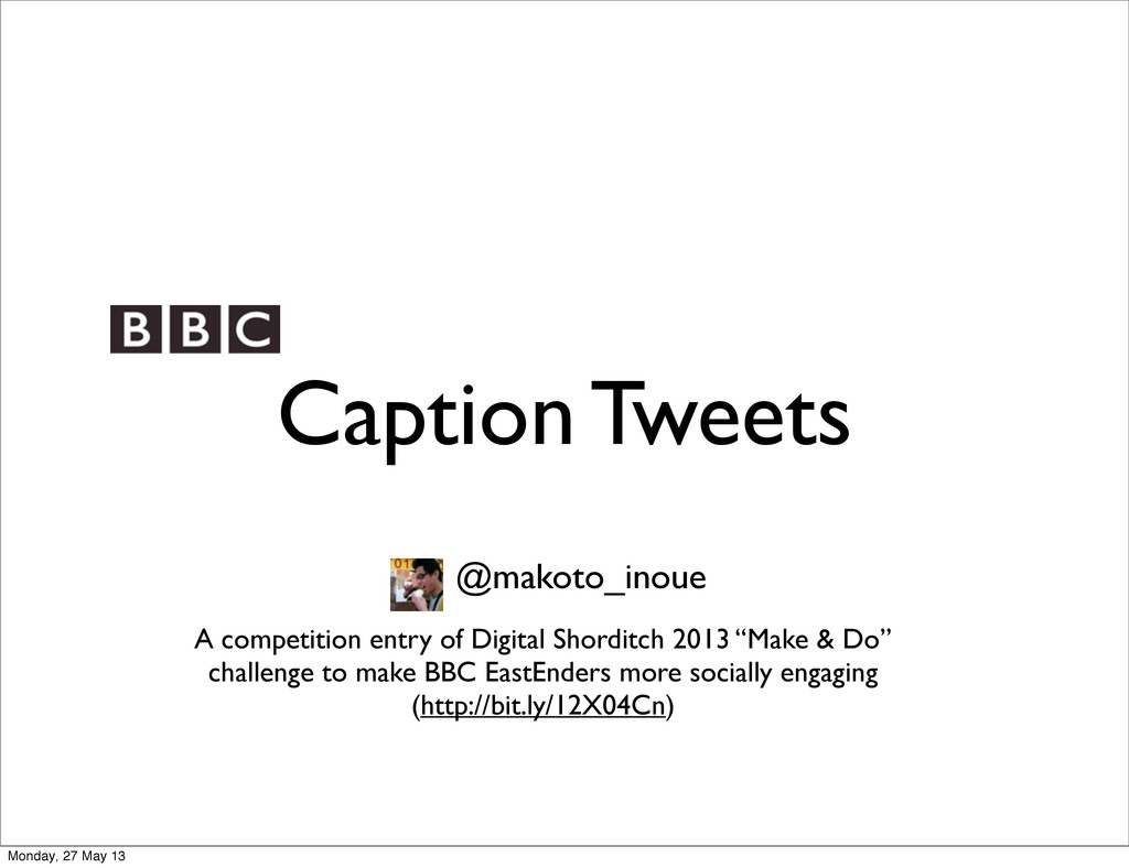 Caption Tweets @makoto_inoue A competition entr...