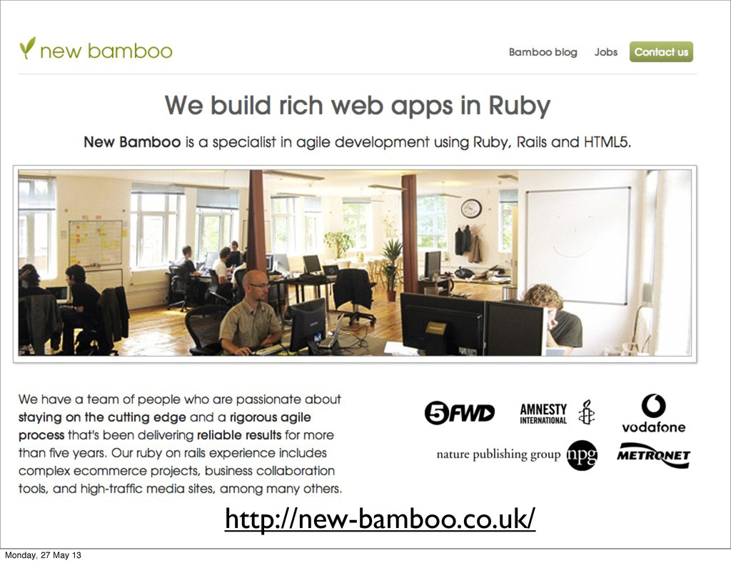 http://new-bamboo.co.uk/ Monday, 27 May 13