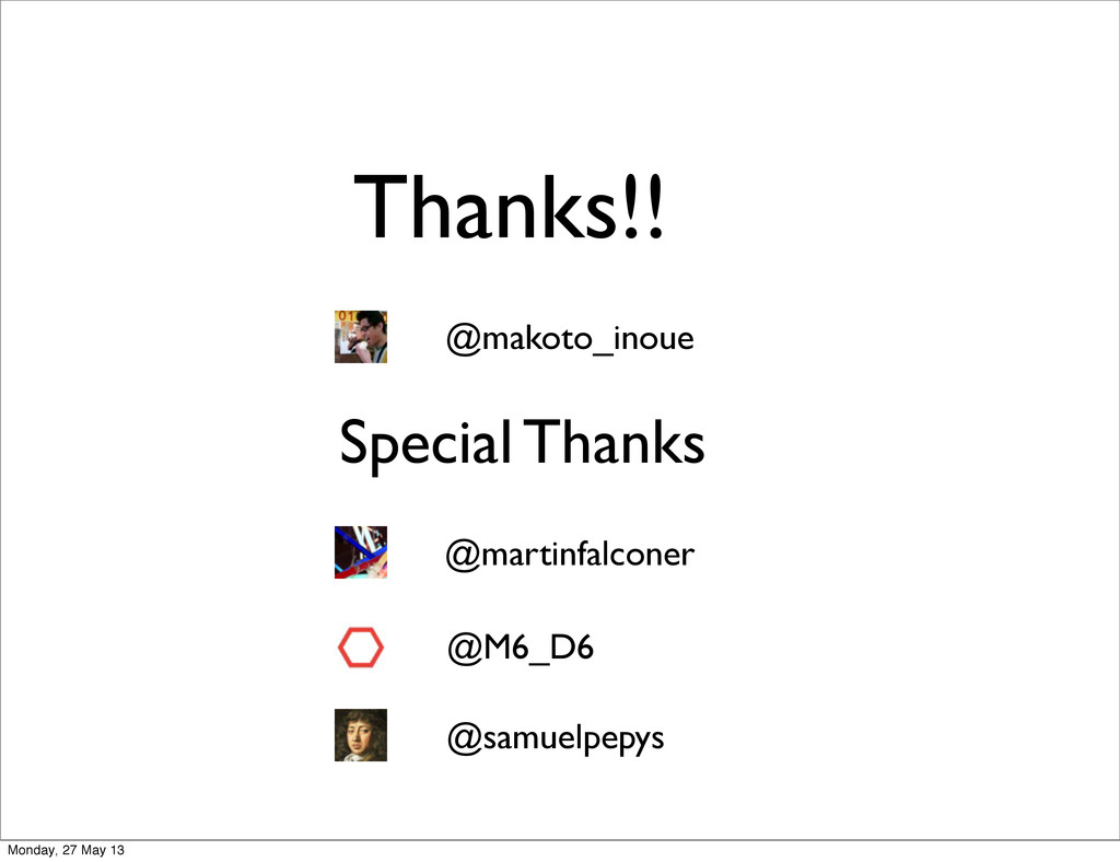 Thanks!! @makoto_inoue Special Thanks @martinfa...