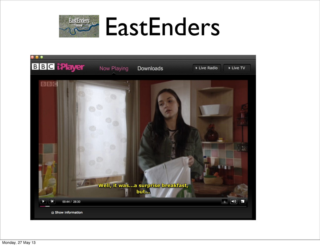 EastEnders Monday, 27 May 13