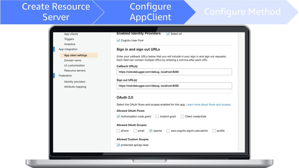 Create Resource Server Configure AppClient Conf...