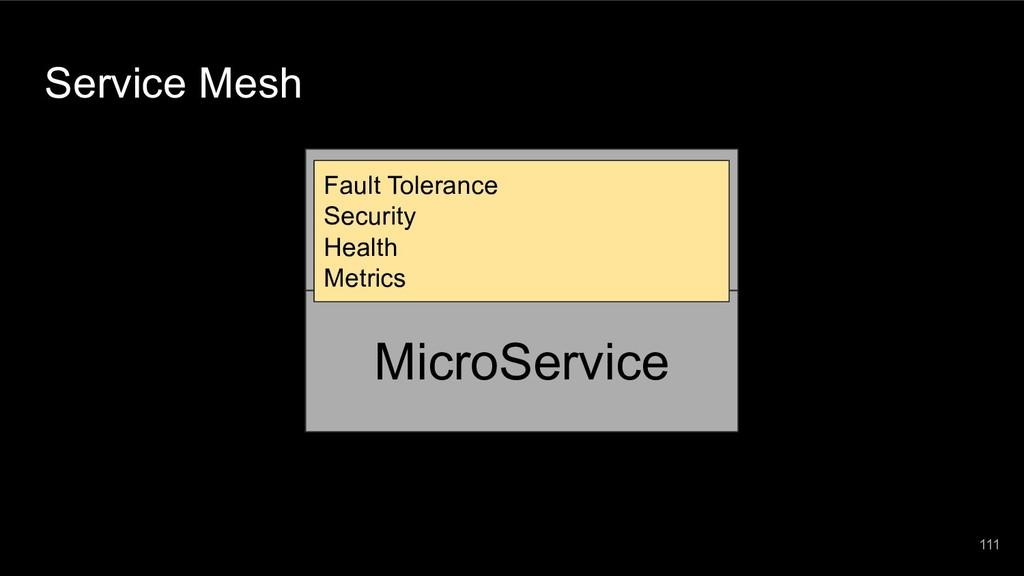 111 MicroService Service Mesh Fault Tolerance S...
