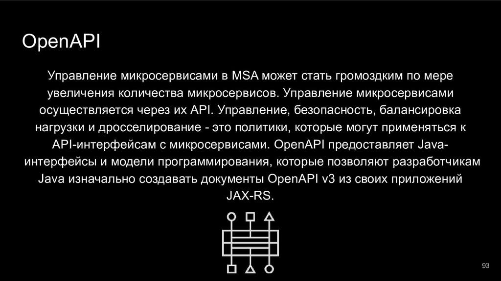 OpenAPI Управление микросервисами в MSA может с...