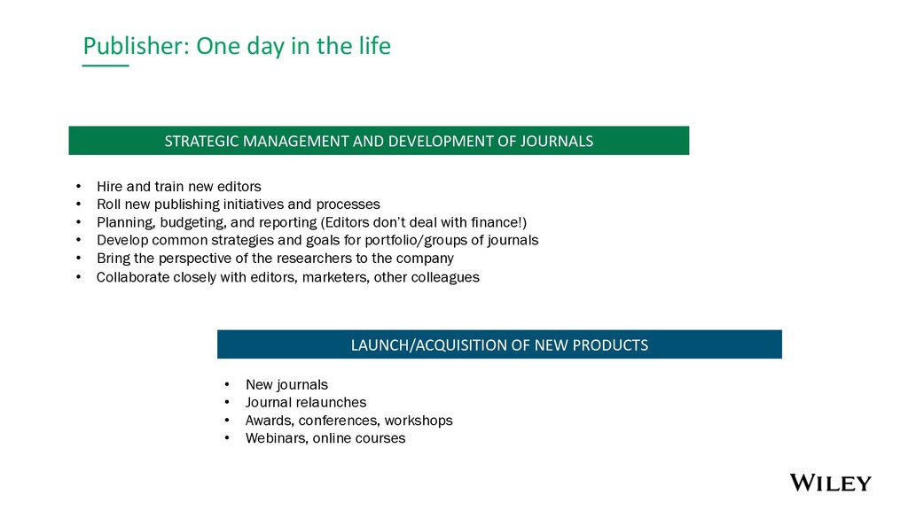 Publisher: One day in the life LAUNCH/ACQUISITI...
