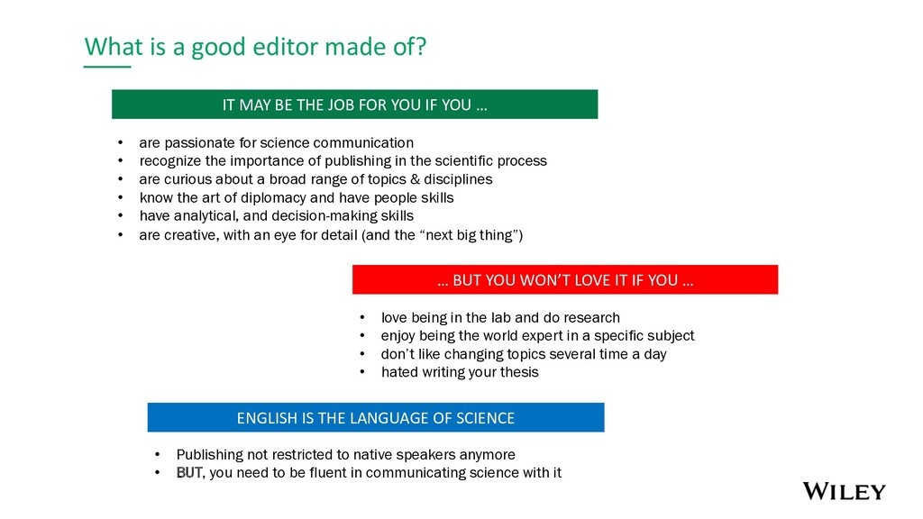 What is a good editor made of? … BUT YOU WON'T ...