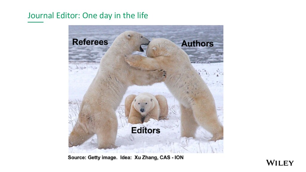 Journal Editor: One day in the life