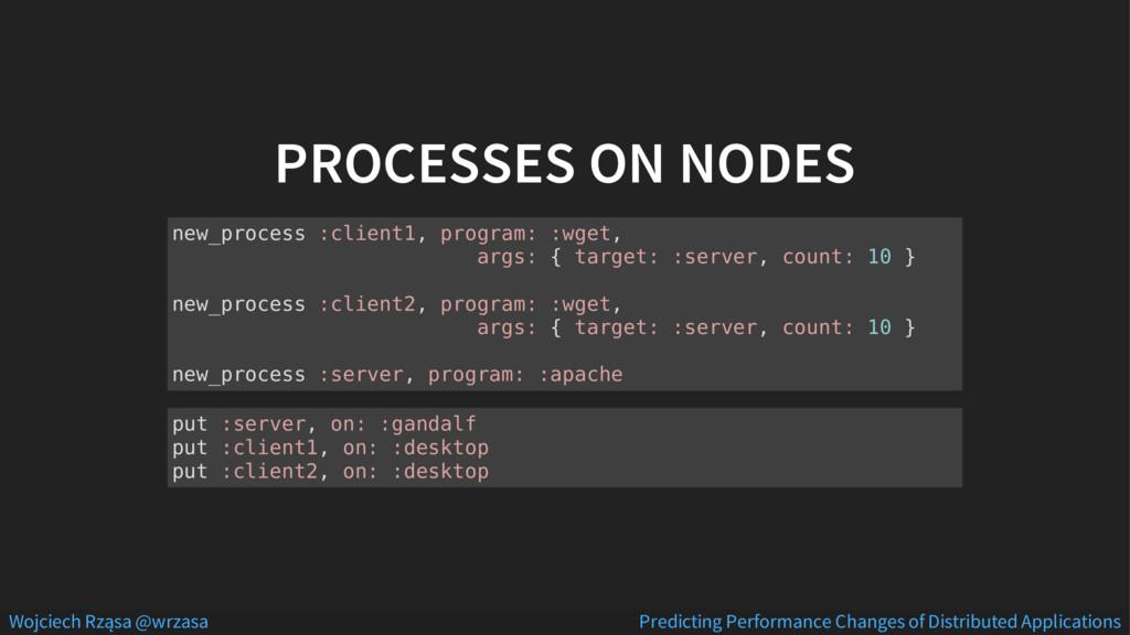 PROCESSES ON NODES new_process :client1, progra...