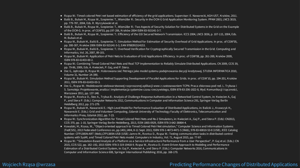 Rząsa W.: Timed colored Petri net based estimat...