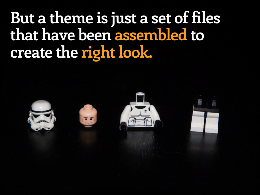 But a theme is just a set of files that have be...