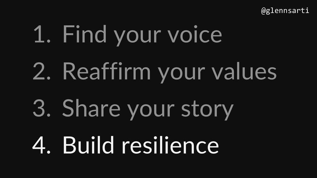1. Find your voice 2. Reaffirm your values 3. S...