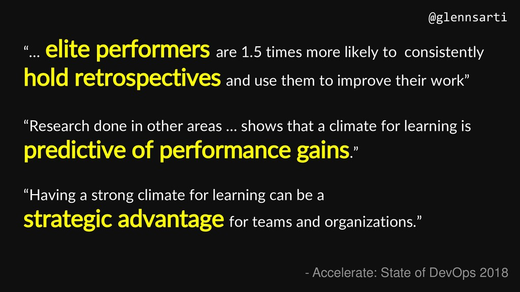 """""""… elite performers are 1.5 times more likely t..."""