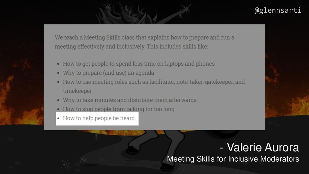 - Valerie Aurora Meeting Skills for Inclusive M...