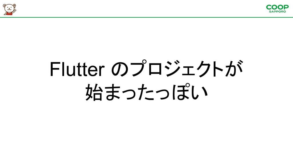Flutter のプロジェクトが 始まったっぽい