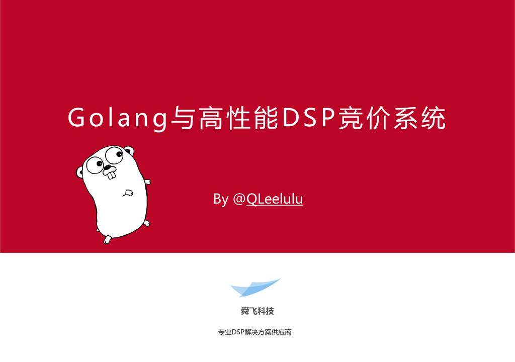 专业DSP解决方案供应商  Golang与高性能DSP竞价系统   By @QLe...