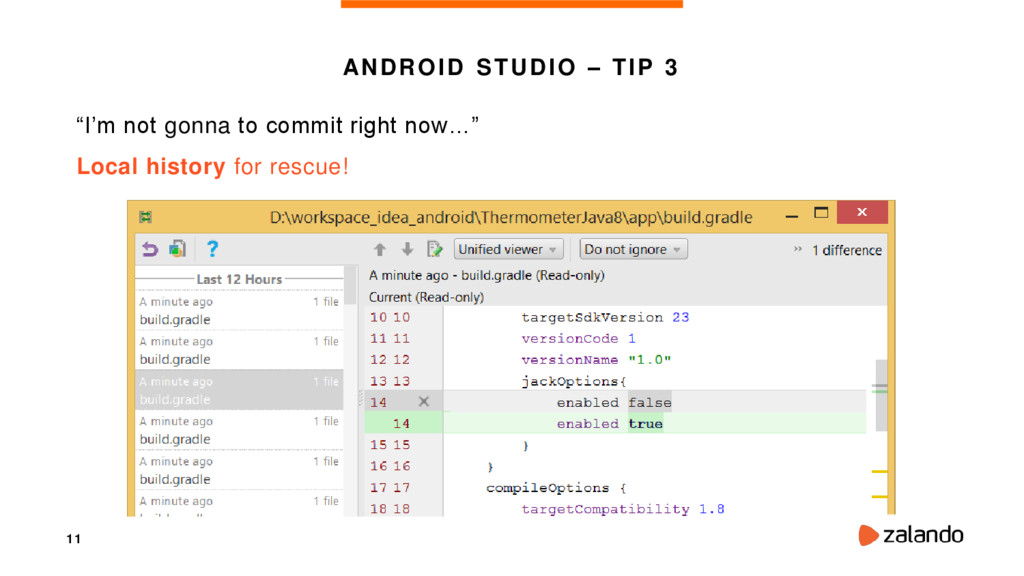 "11 ANDROID STUDIO – TIP 3 ""I'm not gonna to com..."