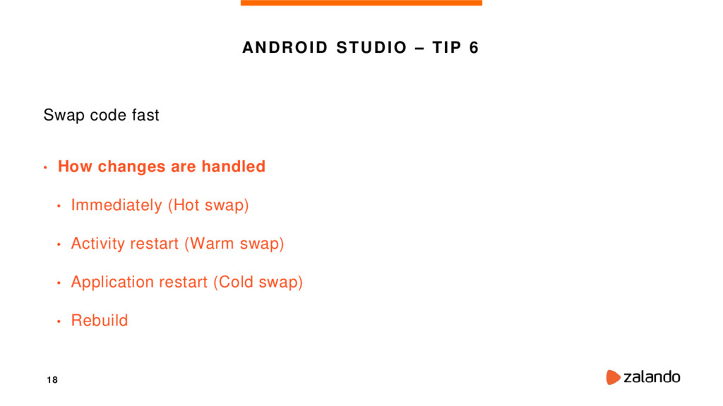 18 ANDROID STUDIO – TIP 6 Swap code fast • How ...