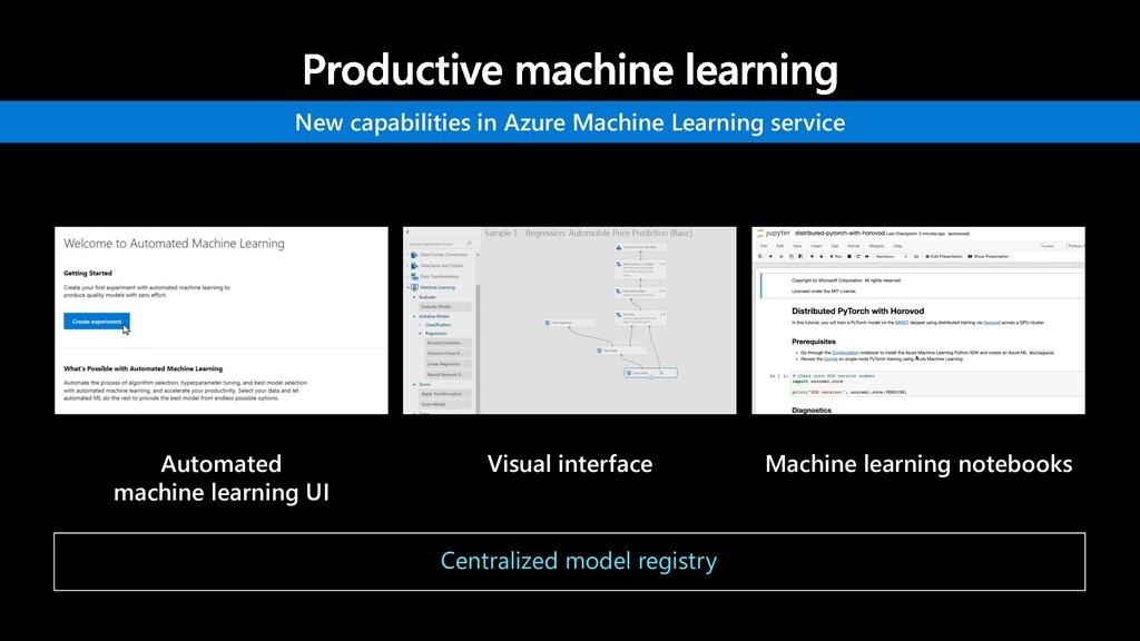 Automated machine learning UI Visual interface ...