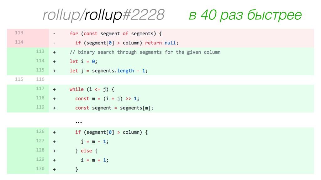 rollup/rollup#2228 … в 40 раз быстрее