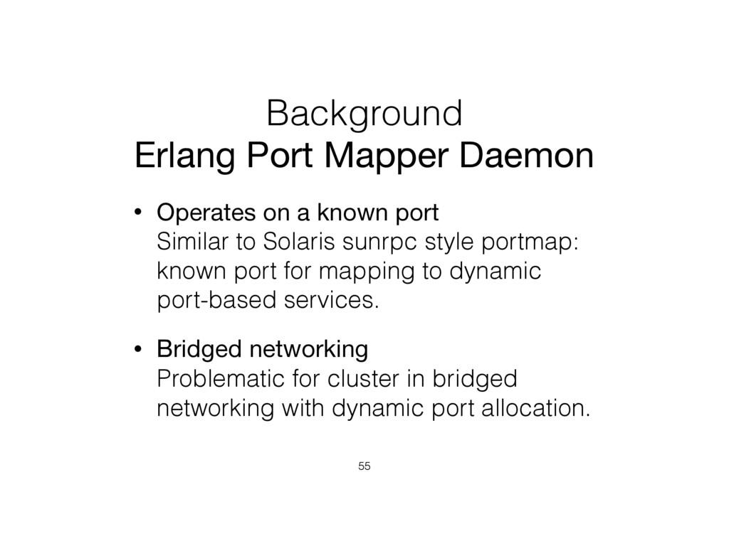 Background Erlang Port Mapper Daemon • Operates...