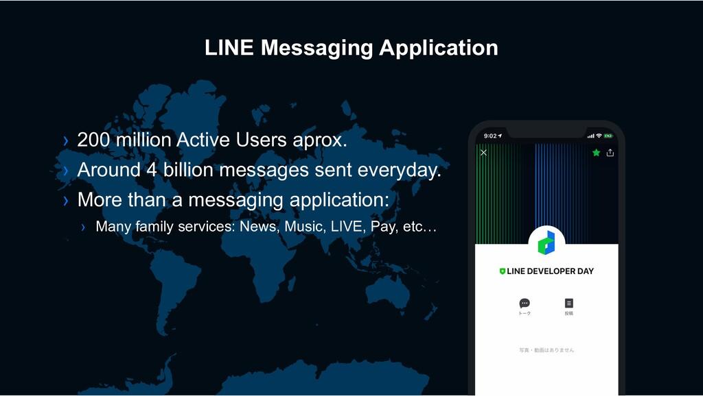 LINE Messaging Application › 200 million Active...