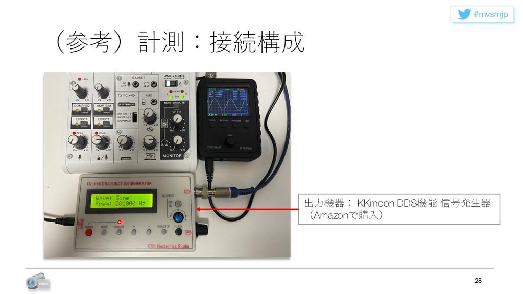 NWTNKQ (参考)計測:接続構成 28 出⼒機器: KKmoon DDS機能 信号発⽣器...