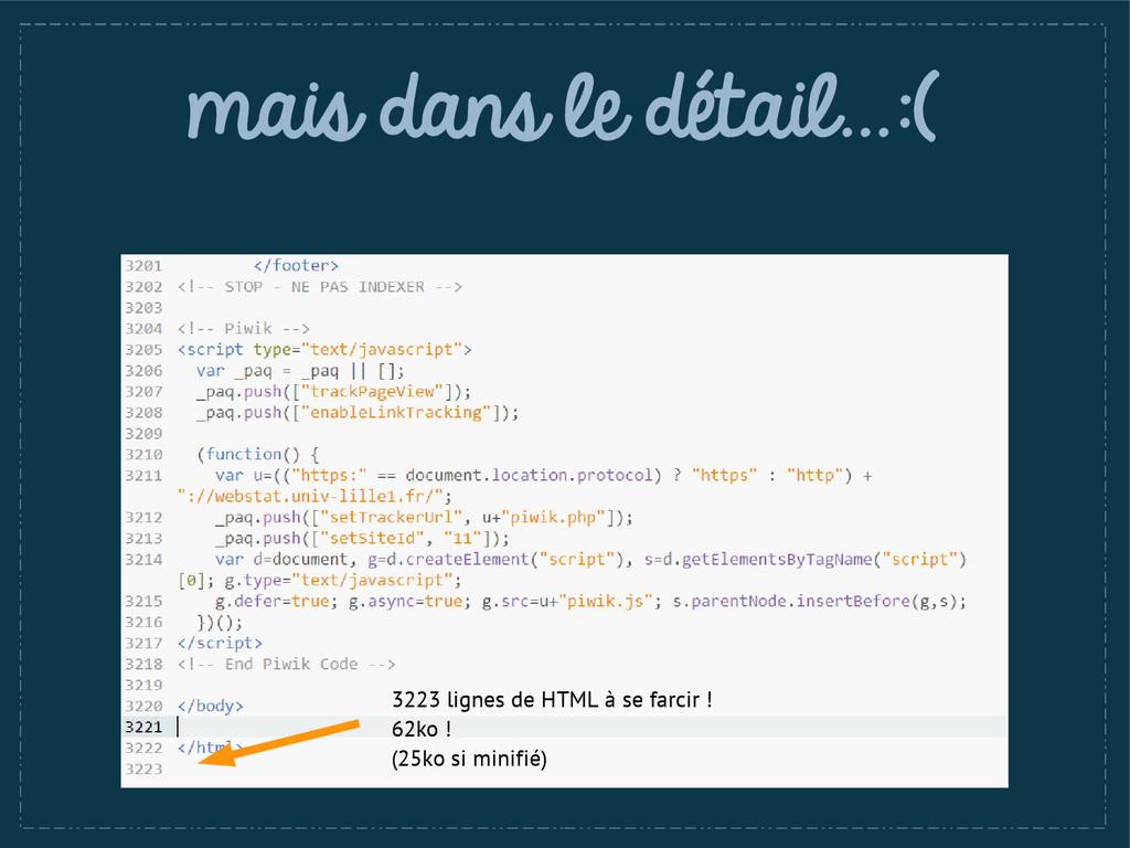 mais dans le détail…:( 3223 lignes de HTML à se...