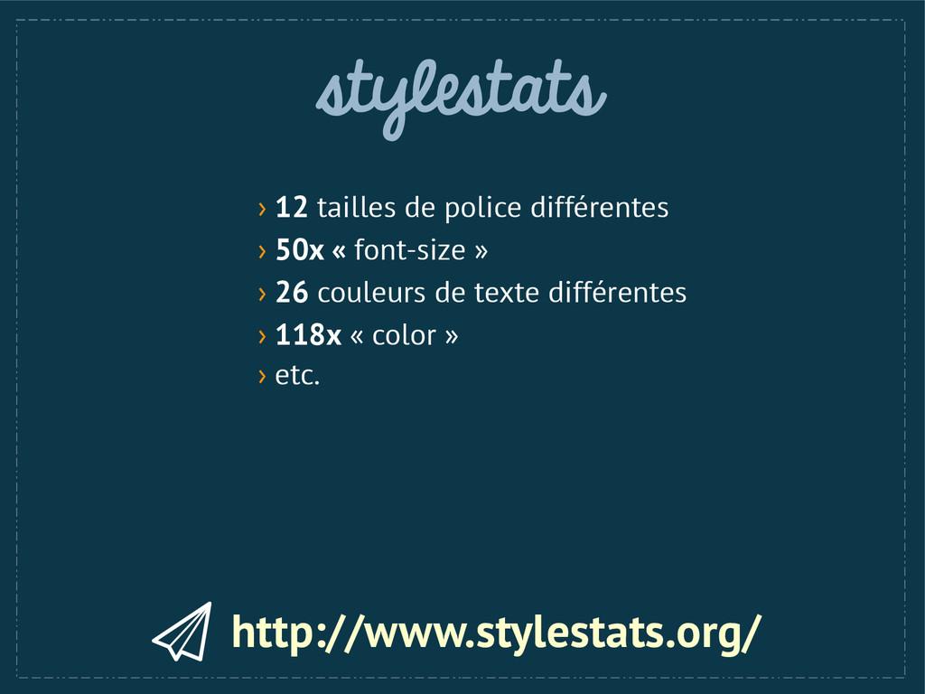 stylestats http://www.stylestats.org/ › 12 tail...